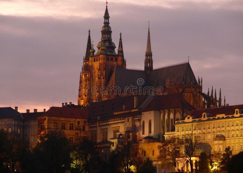 Cathédrale de rue Vitus à Prague image libre de droits