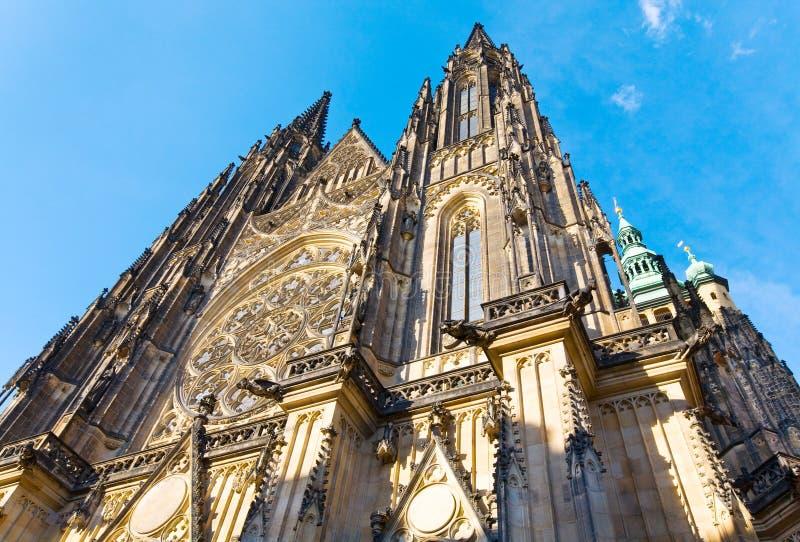 Cathédrale de rue Vitus, Prague, République Tchèque photos libres de droits