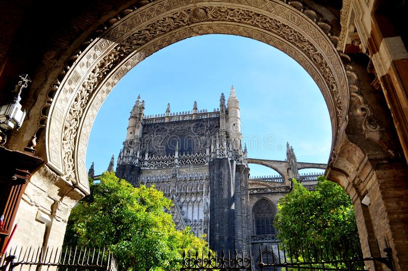 Cathédrale de Séville image libre de droits