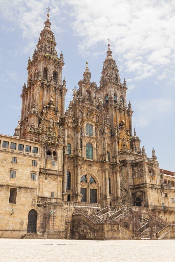 Cathédrale de Saint-Jacques-de-Compostelle images libres de droits