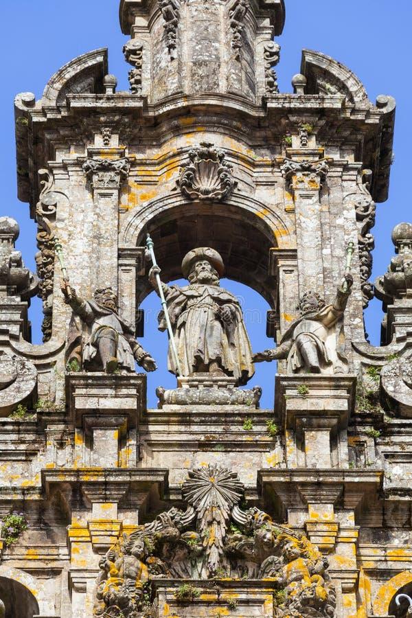 Cathédrale de Saint-Jacques-de-Compostelle photos libres de droits