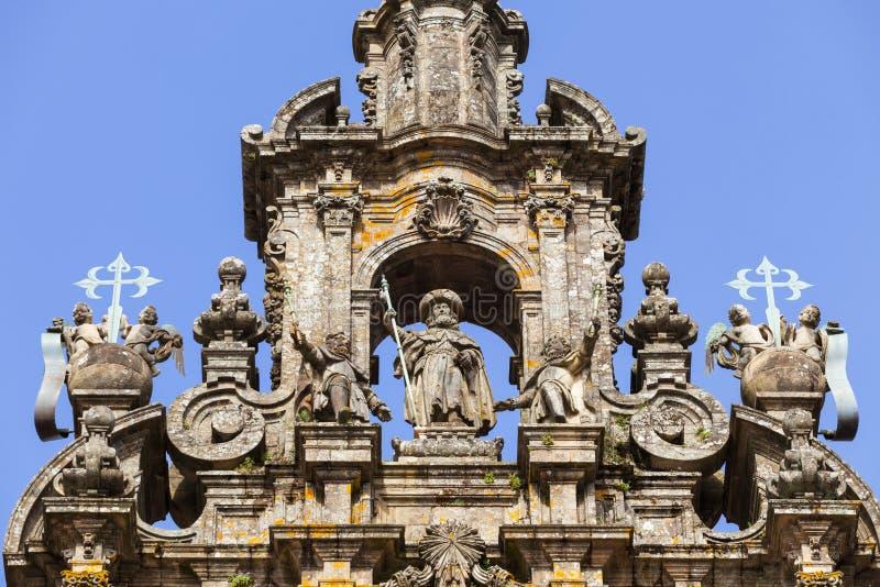 Cathédrale de Saint-Jacques-de-Compostelle photographie stock libre de droits
