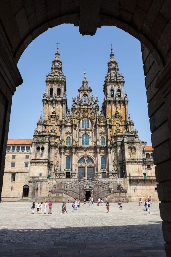 Cathédrale de Saint-Jacques-de-Compostelle, Espagne photographie stock libre de droits