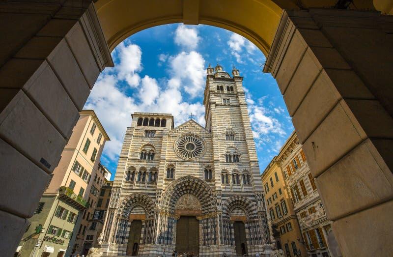 Cathédrale de Saint-Laurent, Gênes, Italie photos stock
