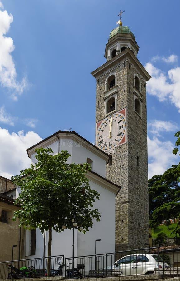 Cathédrale de Saint-Laurent, Lugano photographie stock