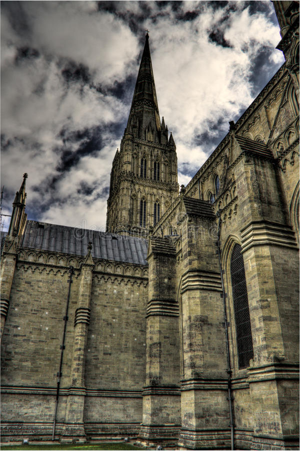 Cathédrale de Salisbury, R-U photo stock