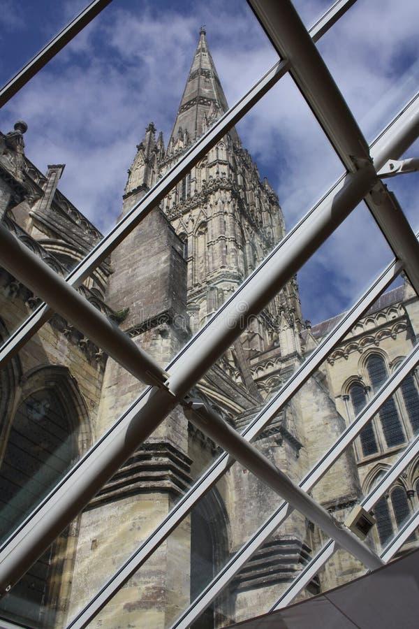 Cathédrale de Salisbury, vue d'hublot photos stock