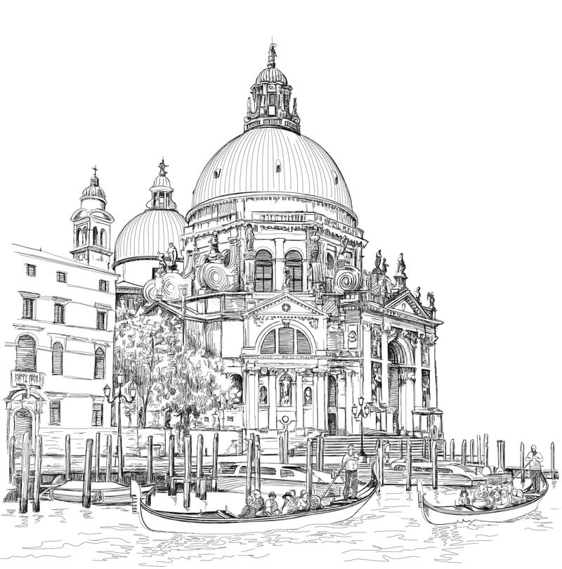 Cathédrale de salut de della Santa Maria Venise l'Italie illustration stock