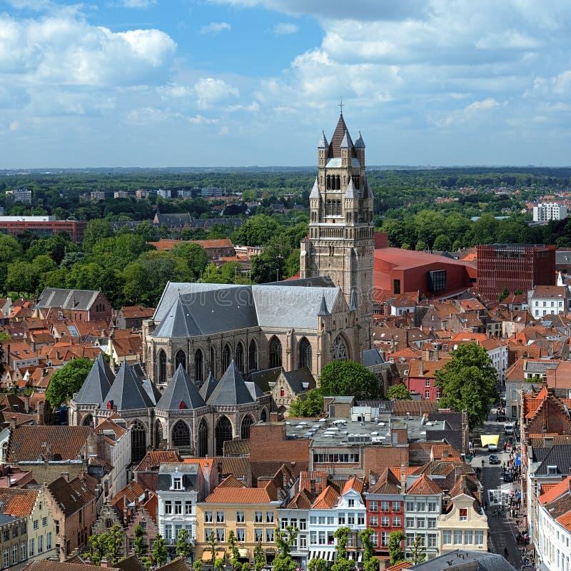 Cathédrale de Salvator de saint à Bruges, Belgique photographie stock