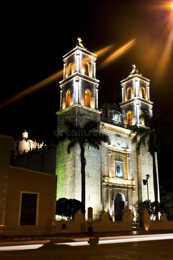 Cathédrale de San Gervasio à Valladolid, Mexique photo libre de droits