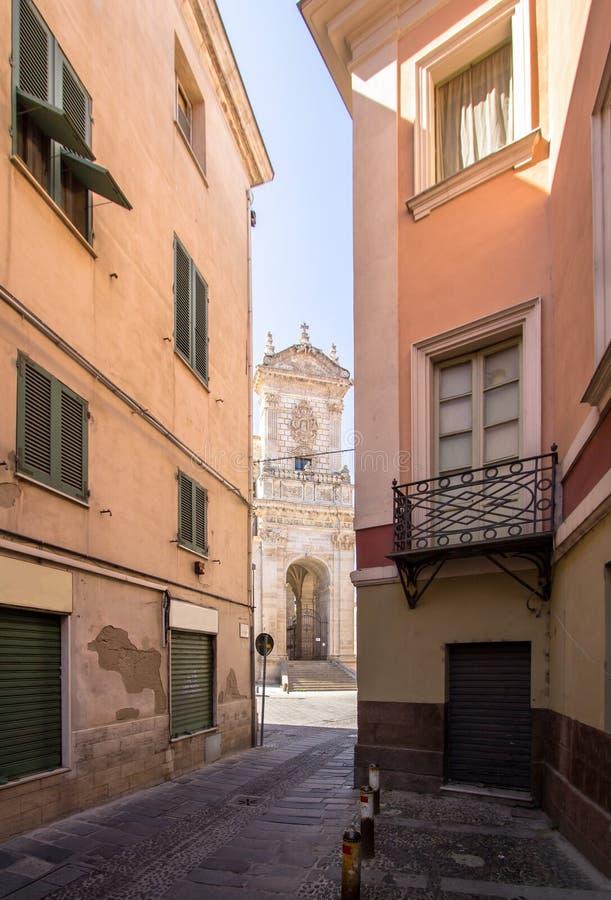 Cathédrale de San Nicola, Sassari, Italie images libres de droits