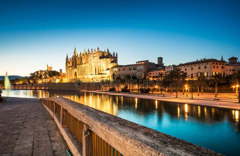 Cathédrale De Santa Maria en Palma de Mallorca Spain images libres de droits