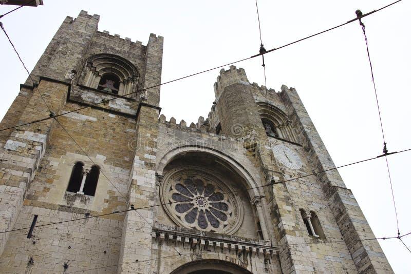 Cathédrale de Santa Maria Maior de Lisbonne images stock