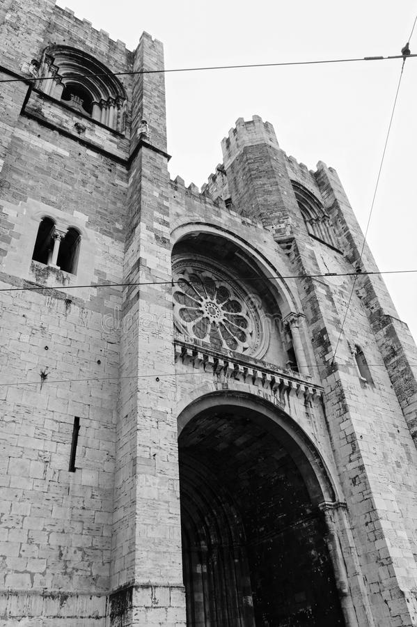 Cathédrale de Santa Maria Maior de Lisbonne photo libre de droits
