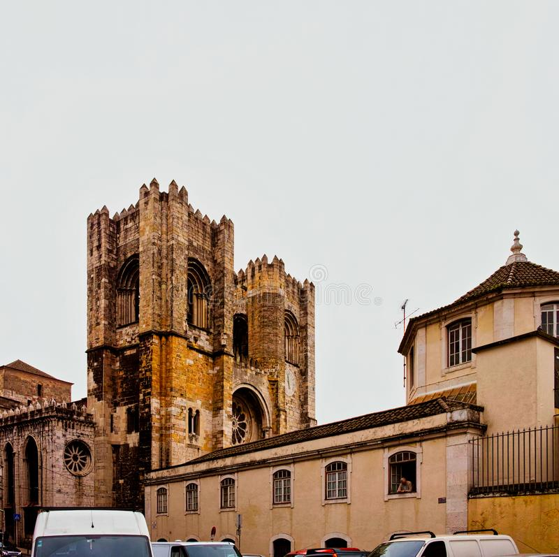 Cathédrale de Santa Maria Maior de Lisbonne photo stock