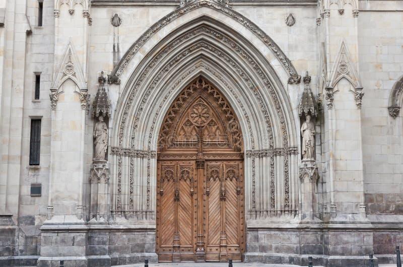 Cathédrale de Santiago à Bilbao, Espagne photographie stock