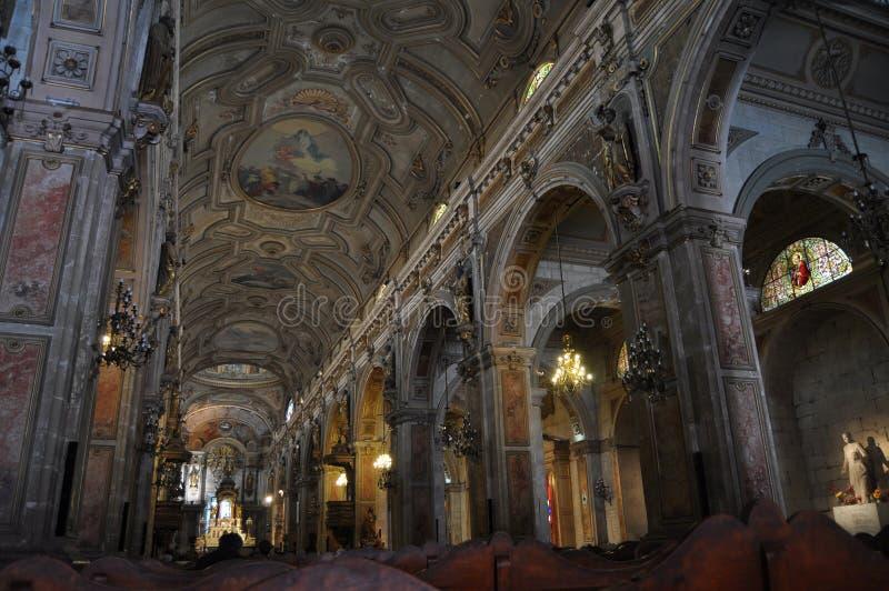 Cathédrale de Santiago, Chili images libres de droits