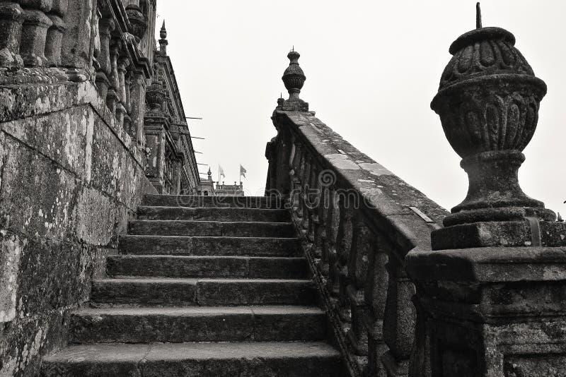 Cathédrale de Santiago de Compostela images libres de droits