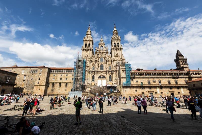 Cathédrale de Santiago de Compostela images stock