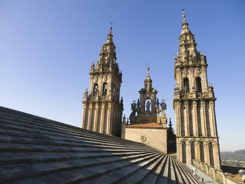 Cathédrale de Santiago de Compostela photographie stock libre de droits