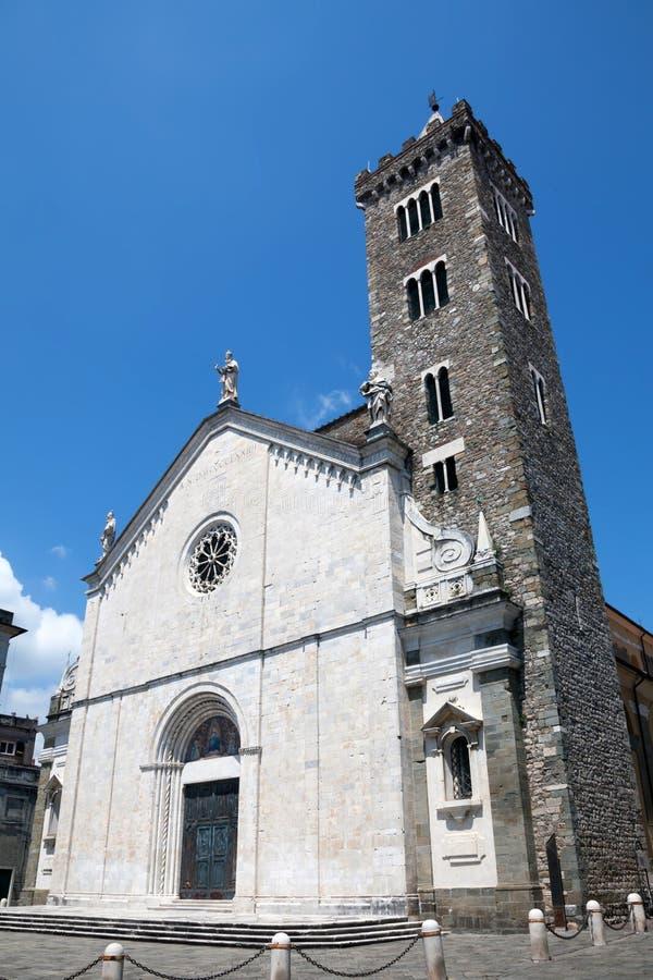 Cathédrale de Sarzana dans Sarzana, Ligurie, Italie photo stock