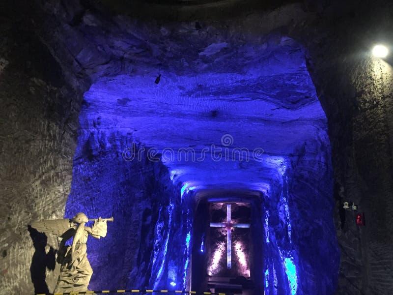 Cathédrale de sel de ¡ de Zipaquirà près de ¡ de BogotÃ, Colombie photographie stock libre de droits