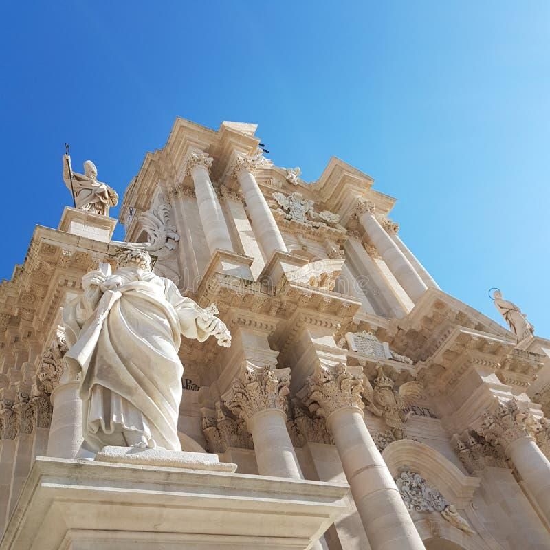 Cathédrale de Siracusa photo stock