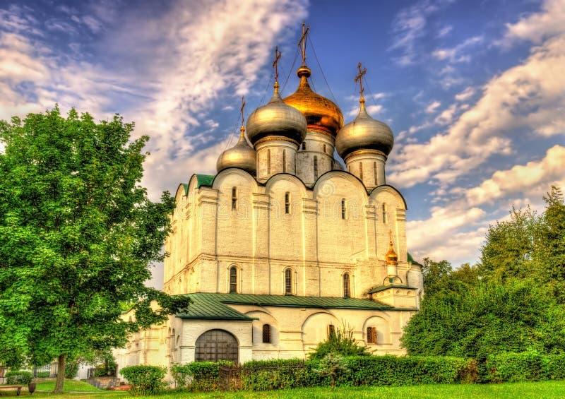 Cathédrale de Smolensk de couvent de Novodevichy, un site de l'UNESCO dans Mosc photos stock