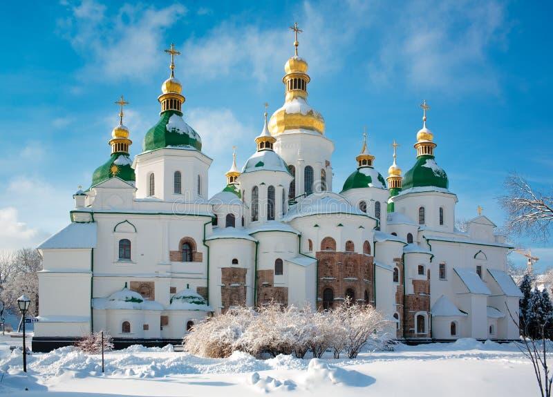 Cathédrale de Sophia de saint à Kiev image stock