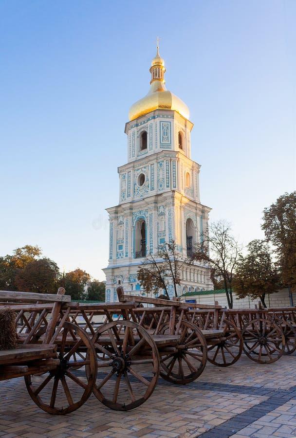 Cathédrale de Sophia de saint à Kiev photographie stock