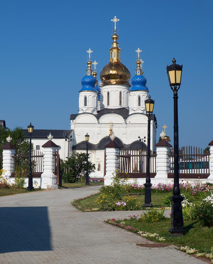 Cathédrale de Sophia-hypothèse de St Tobolsk Kremlin Tobolsk Tyumen Oblast Russie image stock