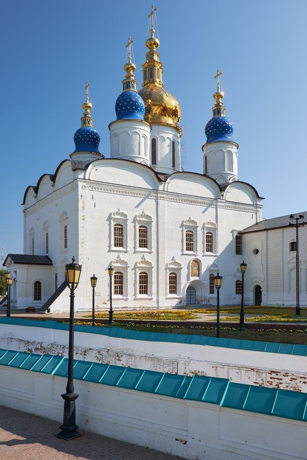 Cathédrale de Sophia-hypothèse de St Tobolsk Kremlin Tobolsk Tyumen Oblast Russie photos libres de droits
