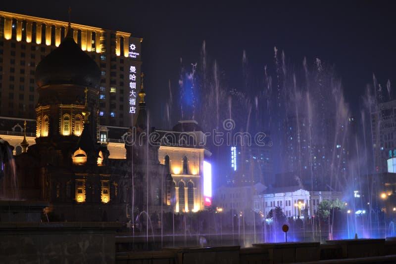 Cathédrale de Sophia de saint dans la ville de Harbin photographie stock libre de droits