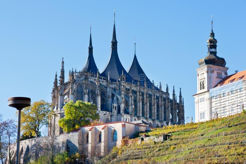 Cathédrale de St Barbora, point de repère culturel national, Kutna Hora, République Tchèque, l'Europe photos libres de droits
