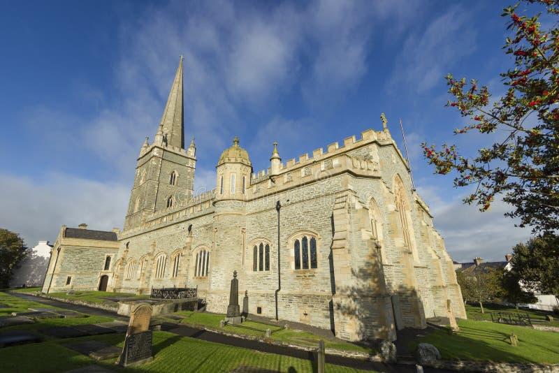 Cathédrale de St Columb à Londonderry image libre de droits