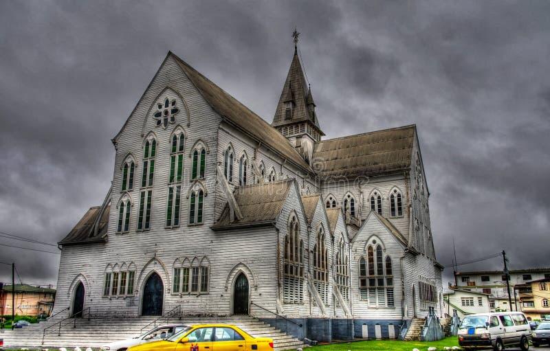 Cathédrale de St George au centre de Georgetown Guyane photo stock