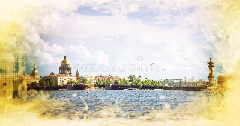 Cathédrale de St Isaac et d'autres bâtiments historiques Russie photo stock