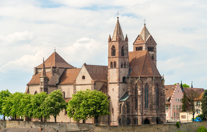Cathédrale de St Stephan de Breisach, Baden-Wurttemberg, allemand image stock