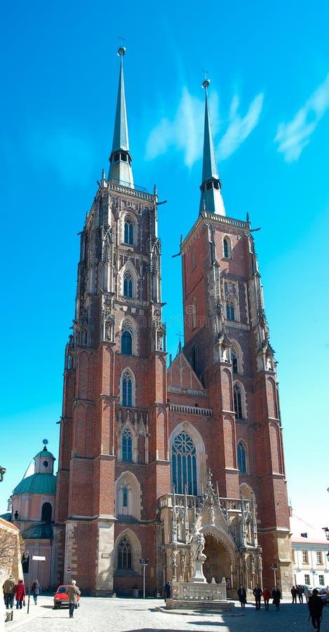 Cathédrale de statue de rue Jean-Baptist images libres de droits