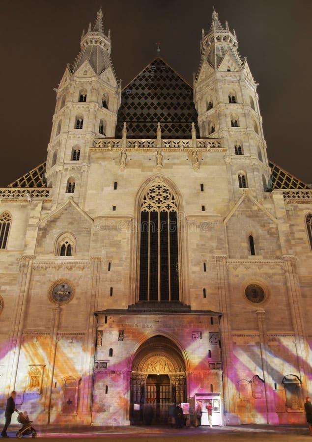 Cathédrale de Stephansdom à Vienne image libre de droits