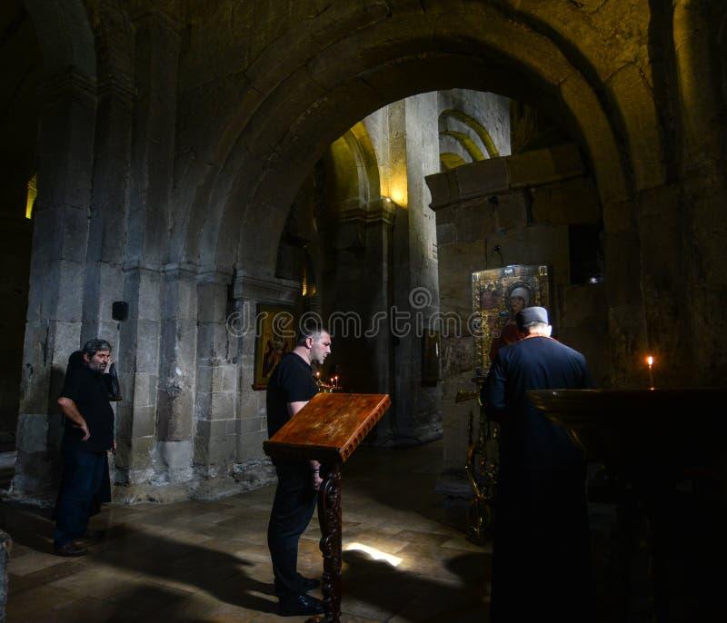 Cathédrale de Svetitskhoveli dans Mtskheta, la Géorgie images libres de droits