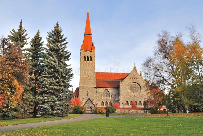 Cathédrale de Tampere, Finlande photos stock