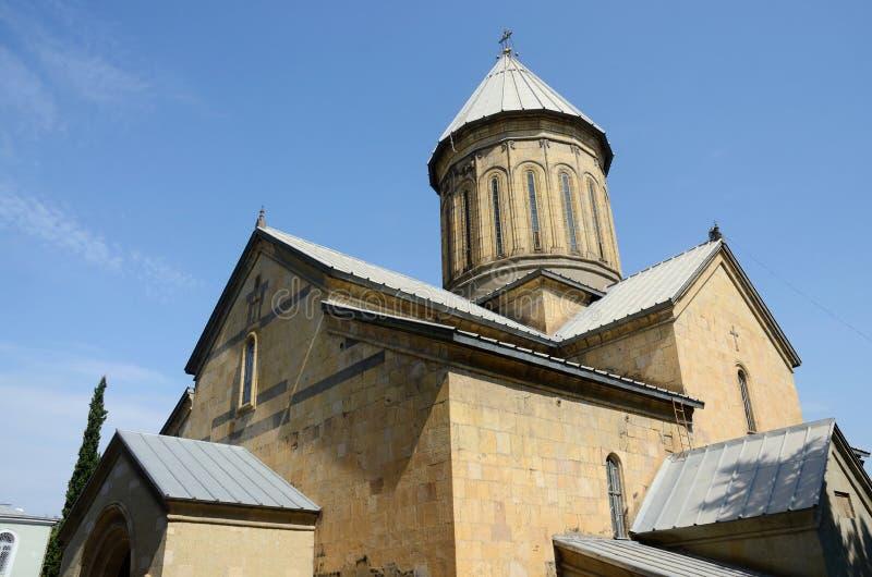 Cathédrale de Tbilisi Sioni, église orthodoxe géorgienne, point de repère célèbre photographie stock libre de droits