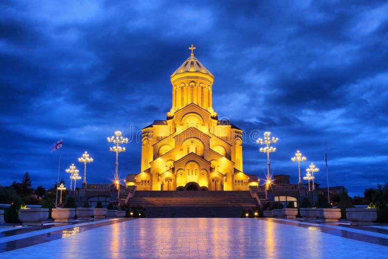 Cathédrale de trinité sainte à Tbilisi photographie stock libre de droits