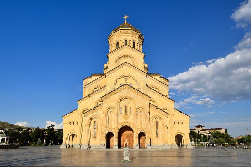 Cathédrale de trinité sainte de Tbilisi photographie stock