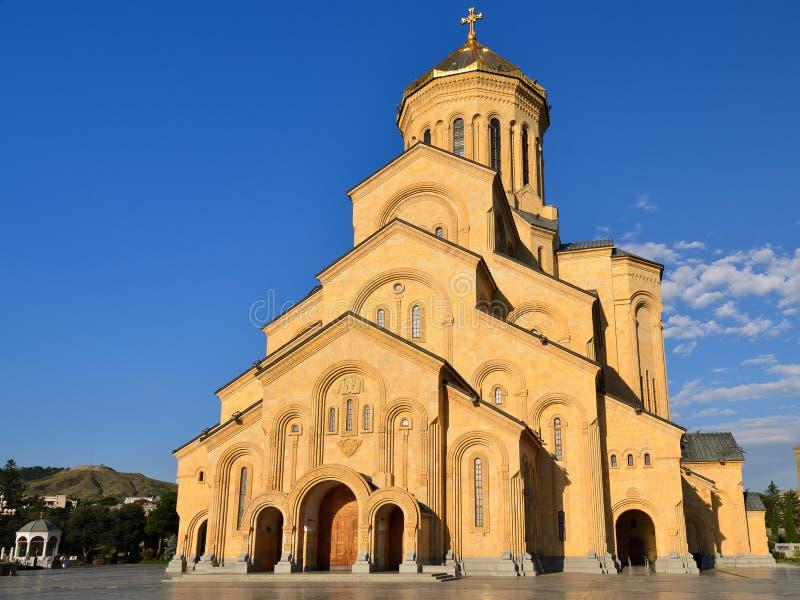 Cathédrale de trinité sainte de Tbilisi photos libres de droits
