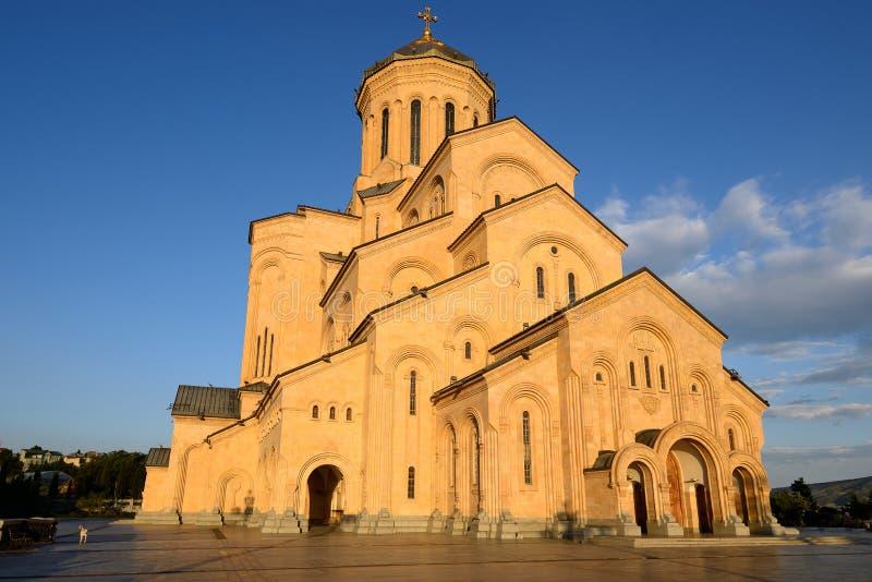Cathédrale de trinité sainte de Tbilisi photo libre de droits