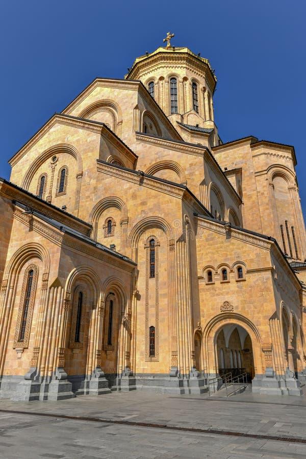 Cathédrale de trinité sainte - Tbilisi, la Géorgie photos stock
