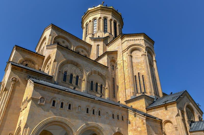 Cathédrale de trinité sainte - Tbilisi, la Géorgie images stock