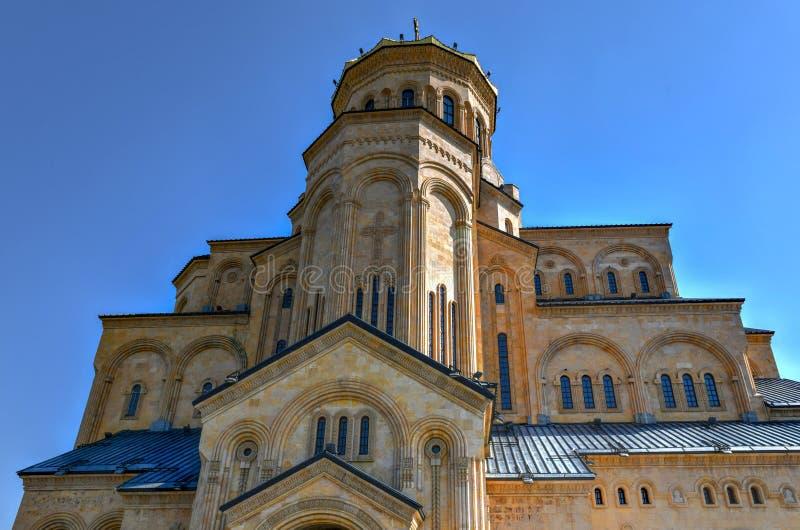 Cathédrale de trinité sainte - Tbilisi, la Géorgie photographie stock libre de droits